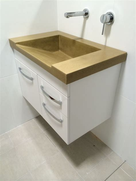 Bathroom Vanities With Sinks And Tops by 1000 Images About Polished Concrete Bathroom Vanities On