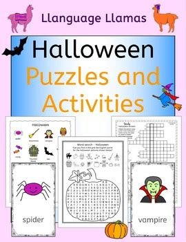 halloween activities puzzles and games for elementary