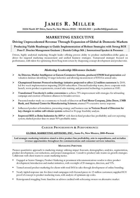 director of marketing resume berathen