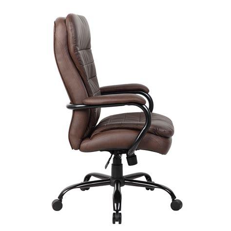 heavy duty plush leatherplus chair 350 lbs