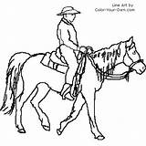 Coloring Trail Rider Pages Horse Index Own sketch template
