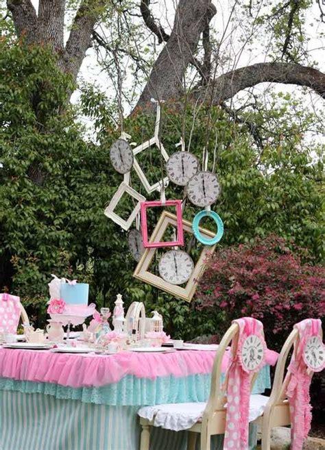 kids alice  wonderland party ideas shelterness
