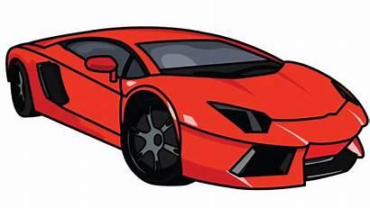 Drawing Easy Lamborghini Transparent Clipart Lambo Step