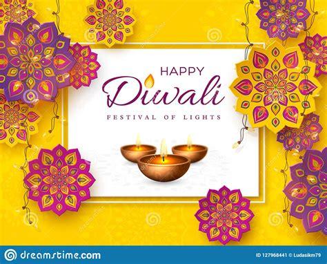 diwali festival holiday design  rangoli stock vector