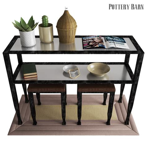 Pottery Barn Tanner Console Table  Bronze Finish By Erkin