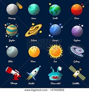 Space Universe Icon Set Vector & Photo | Bigstock