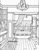 Coloring Victorian Pages Bathroom Adult Colouring Drawing Furniture Houses Books Printable Sheets Modern Interior Taylor Homes Line Mary Colors Getdrawings sketch template