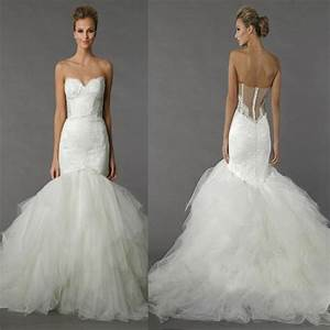 pnina tornai mermaid wedding dresses trumpet bridal gowns With pnina tornai mermaid wedding dress
