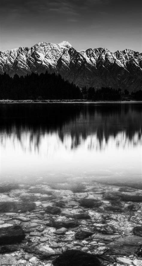 Wallpaper Black And White by Black And White Snow Mountain Lake The Iphone Wallpapers