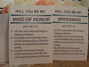bridal party invitation cards 1 will you be my maid of With will you be my maid of honor letter