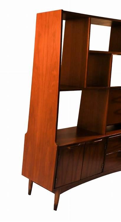 Divider Bookcase Modern Mid Century Hutch Furniture