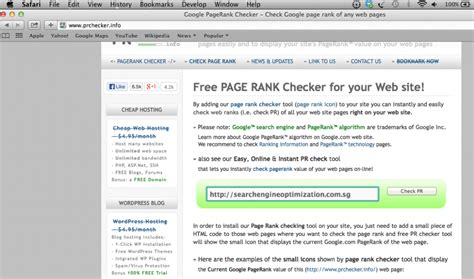 Check Website Seo Optimization - page rank update on 6 december 2013