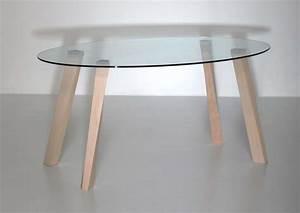Table Verre Bois : table verre pied bois ~ Teatrodelosmanantiales.com Idées de Décoration