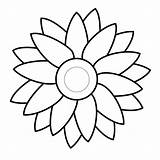 Sunflower Drawing Flower Templates Clipartpanda Simple Svg Clip Coloring Flowers Template Basic Pages Sun Clipart Stencils Terms Petals sketch template