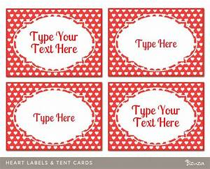 custom valentine labels hearts design printable and With free customizable printable tags