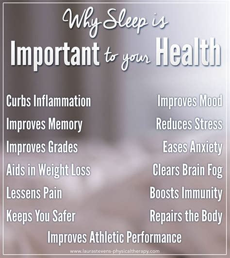 Laura Stevens Physical Therapywhy Sleep Is Important To