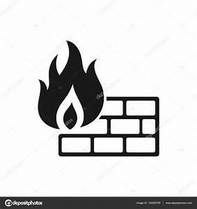 Firewall Icon In Single Grey Color   U2014 Stock Vector  U00a9 Puruan  140255758