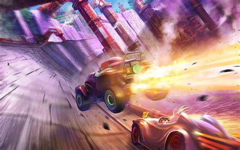 team sonic racing screenshots show doctors  track