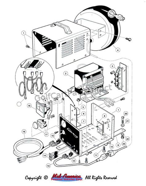 Wiring Diagram For Club Car Charger by On Board Charger Export Club Car Parts Accessories