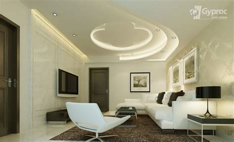 false ceiling designs  living room saint gobain