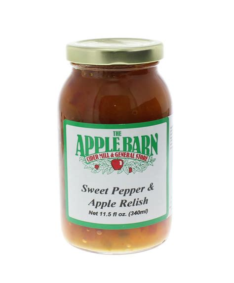 apple relish sweet pepper apple relish 311 the apple barn cider mill general store inc
