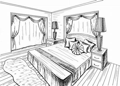 Sketch Bedroom Graphical Interior Draft