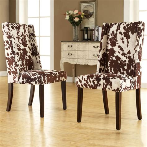 Cowhide Chairs by Cowhide Dining Chairs And Stylish Choice Of Dining