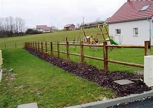 Barrière En Bois Jardin : barri res cl tures bois autoclave rondins la scierie ~ Premium-room.com Idées de Décoration