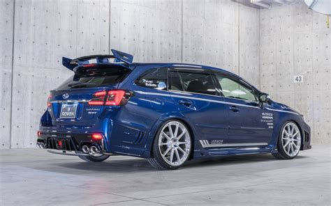 subaru levorg shows  tuning side  rowen kit