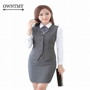 Women Suit Vest 2017 Fashion Women Solid Suit Waistcoat Female Business Formal Vest Jackets ...
