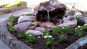 Front yard water fountain - YouTube