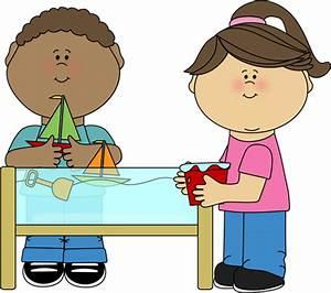 Sharing toys clip art