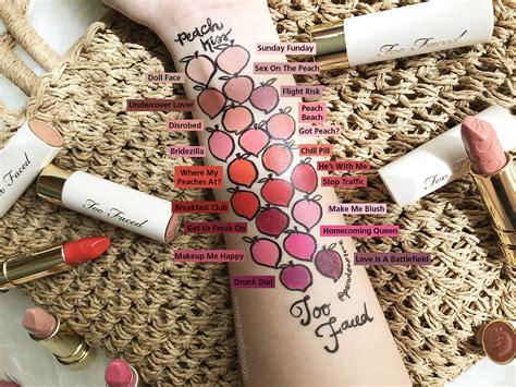 matte   faced peach kiss moisture matte long wear lipstick review swatches makeup