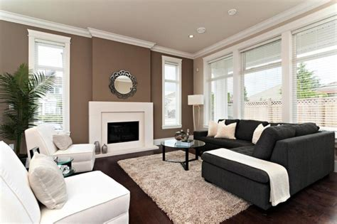 Good Accent Wall Colors For Small Living Room With Fireplace And L Shaped Sectional Sofa With