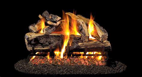 real fyre  charred rugged split oak vented natural gas