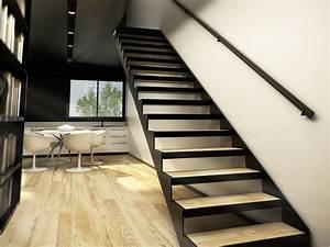 Escalier Colimaçon Beton : acheter un escalier design et pas cher dans le 43 metal escalier droit escalier m tallique ~ Melissatoandfro.com Idées de Décoration