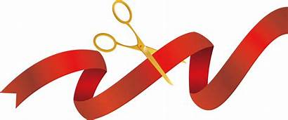 Ribbon Cutting Opening Scissors Clipart Ceremony Inauguration