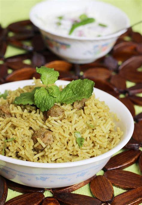 Soya Chunks Biryani Recipe  Meal Maker Biryani Recipe