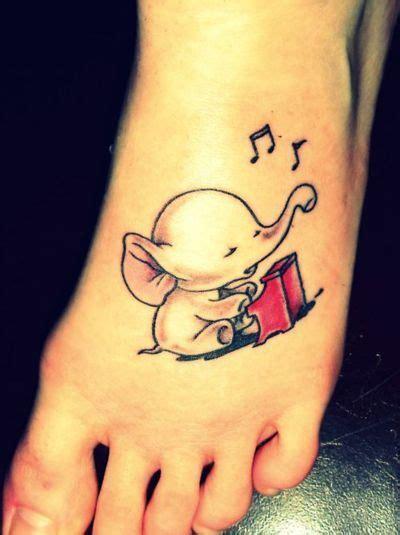 cute  elephant tattoo unique tattoosits