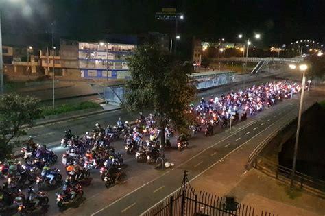Protesta De Motociclistas, Por Prohibición Del Parrillero