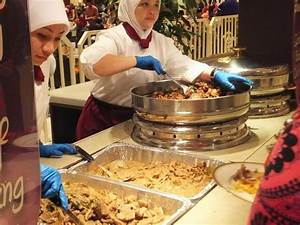 Palace staff serving food - Picture of Istana Nurul Iman ...