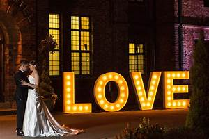 Light up wedding love letters to hire in yorkshire for Light up letters wedding