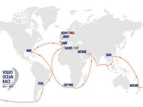 auckland completes  volvo ocean race route map world