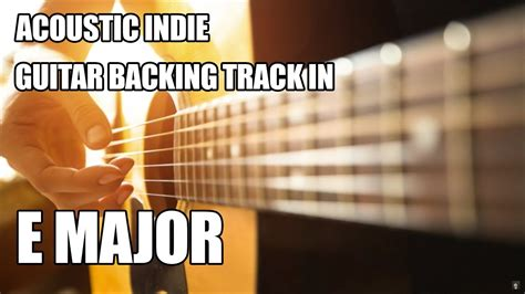 acoustic indie guitar backing track   major chords