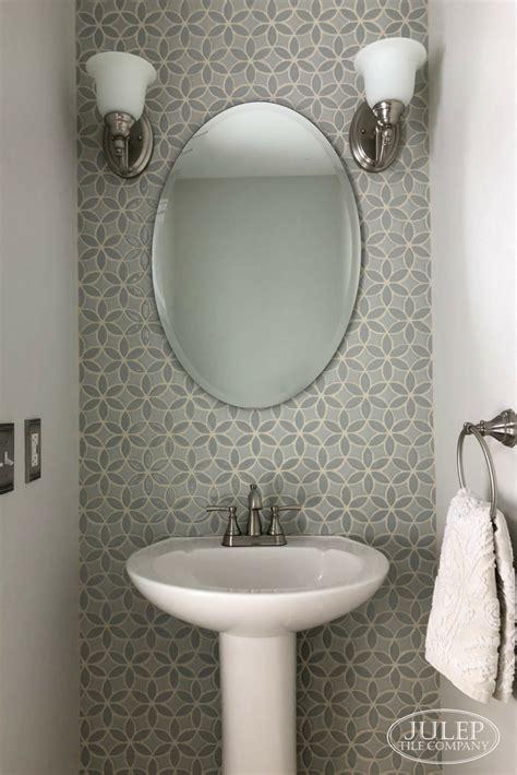 elegant powder room makeover julep tile company