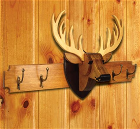 decorative indoor deer rack wood project plan