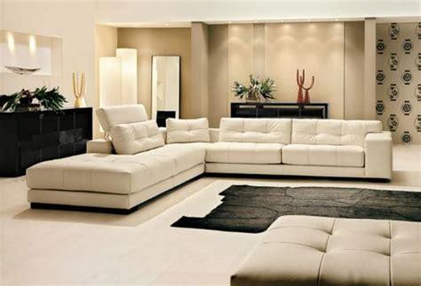 canape cuir italien luxe leather livingroom sofa white leather interior design