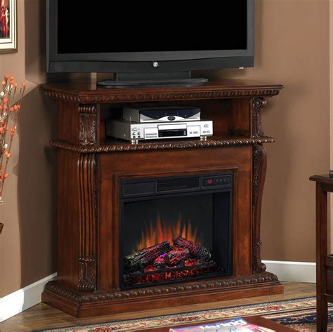 electric corner fireplace corinth 23 quot vintage cherry electric fireplace cabinet