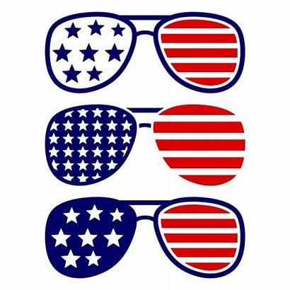 Sunglasses Svg Merica Clipart America Usa Cuttable