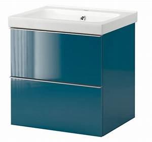 Deco bleue canard vive le pantone 3145 c meuble salle de for Ikea meuble salle de bain lavabo